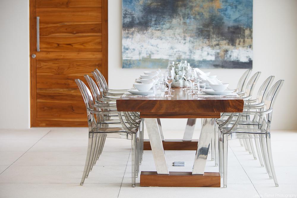 Indoor dining at Lime Villa 4, a luxury private, ocean view villa, Koh Samui, Surat Thani, Thailand