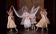 The Birmingham Royal Ballet <br /> Three Short Story Ballets (mixed Bill) <br /> at Birmingham Hippodrome, Birmingham, Great Britain <br /> Rehearsal 21st June 2017 <br /> <br /> Le Baiser de la f&eacute;e <br /> Choreography by Michael Corder<br /> <br /> Music: Igor StravinskyDesigns: John MacfarlaneLighting: Paule Constable<br /> <br /> <br /> <br /> Mathias Dingman<br /> Bride: <br /> <br /> Miki Mizutani <br /> <br /> <br /> <br /> <br /> <br /> <br /> <br /> <br /> <br /> Photograph by Elliott Franks <br /> Image licensed to Elliott Franks Photography Services