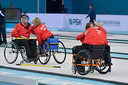 Angie Malone, Jim Gault, Gregor Ewan, Aileen Neilson, Wheelchair Curling Finals at the 2014 Sochi Winter Paralympic Games, Russia