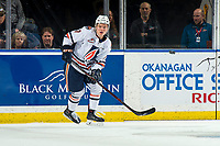 KELOWNA, BC - MARCH 09: Luke Zazula #7 of the Kamloops Blazers skates against the Kelowna Rockets  at Prospera Place on March 9, 2019 in Kelowna, Canada. (Photo by Marissa Baecker/Getty Images)