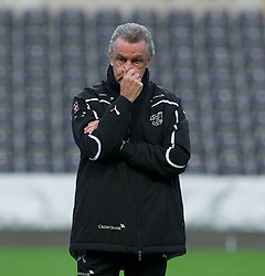 SWANSEA, WALES - Thursday, October 6, 2011: Switzerland's head coach Ottmar Hitzfeld during a trainings session ahead of the UEFA Euro 2012 Qualifying Group G match against Wales at the Liberty Stadium. (Pic by David Rawcliffe/Propaganda)