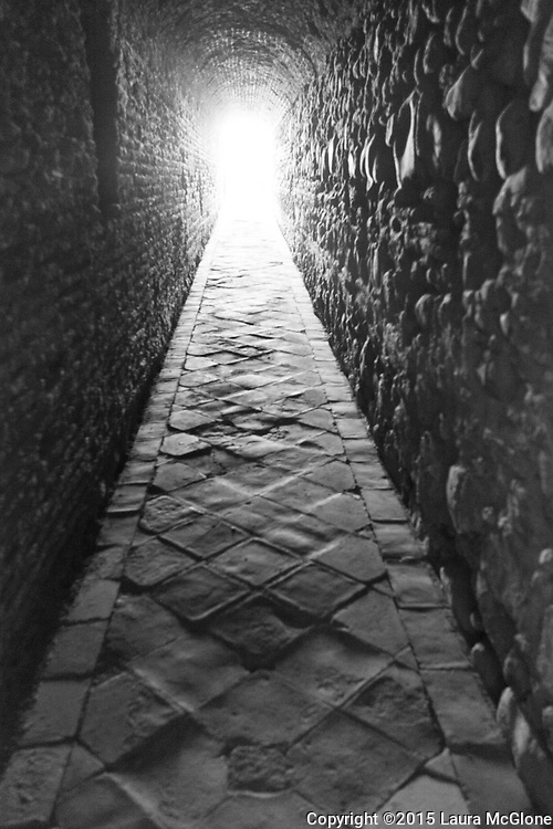 Light at the end of the tunnel, Alhambra Palace, Spain