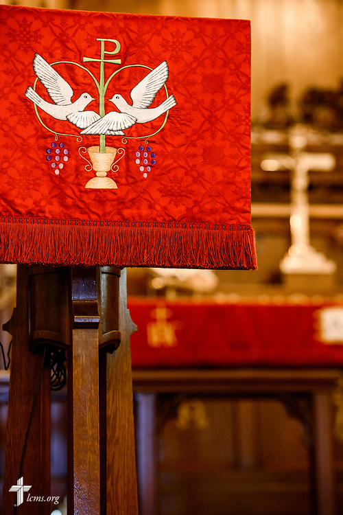 The pulpit at Nazareth Lutheran Church, Baltimore, on Saturday, March 24, 2018. LCMS Communications/Erik M. Lunsford