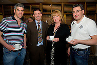 Dr. Sean Moffatt, Ballina, Dr. Ronan Kavanagh, Dr. Maura Irwin, Ballina, Dr. Keith Swanick, Belmullet at Rheumatology Toolbox : Rheumatology for General Practice Conference at the Radisson Blu Hotel , Galway. Photo:Andrew Downes