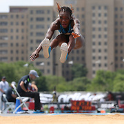 Kimberly Williams, Jamaica, winning the Women's Triple Jump competition during the Diamond League Adidas Grand Prix at Icahn Stadium, Randall's Island, Manhattan, New York, USA. 14th June 2014. Photo Tim Clayton