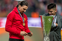 24-05-2017 SWE: Final Europa League AFC Ajax - Manchester United, Stockholm<br /> Finale Europa League tussen Ajax en Manchester United in het Friends Arena te Stockholm / Zlatan of Manchester United met de UEFA cup trophy