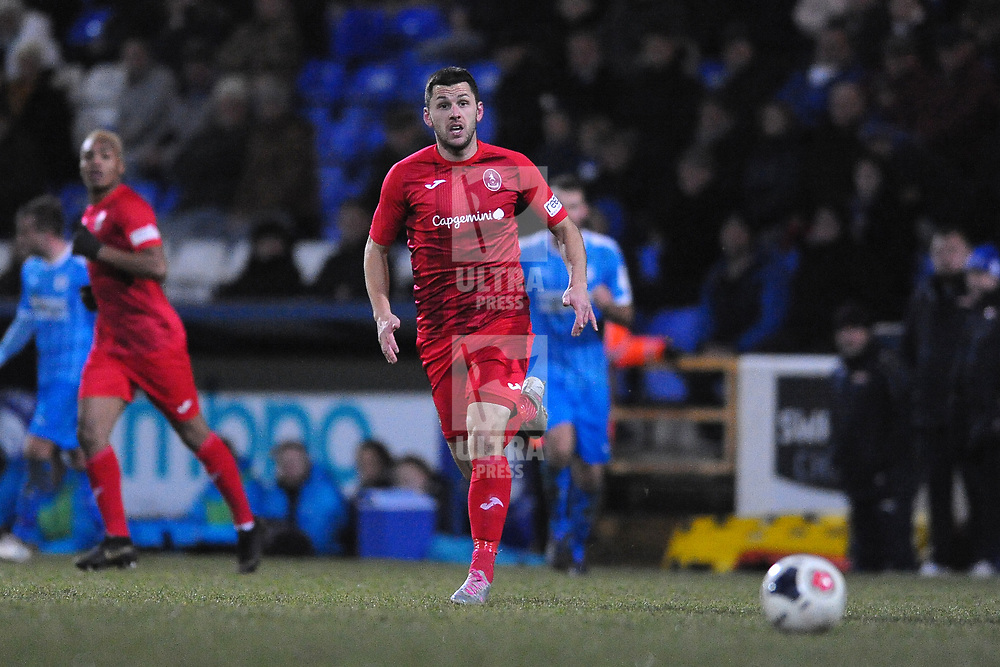 TELFORD COPYRIGHT MIKE SHERIDAN Aaron Williams of Telford during the Vanarama Conference North fixture between AFC Telford United and Chester at the 1885 Arena Deva Stadium on Saturday, December 21, 2019.<br /> <br /> Picture credit: Mike Sheridan/Ultrapress<br /> <br /> MS201920-035