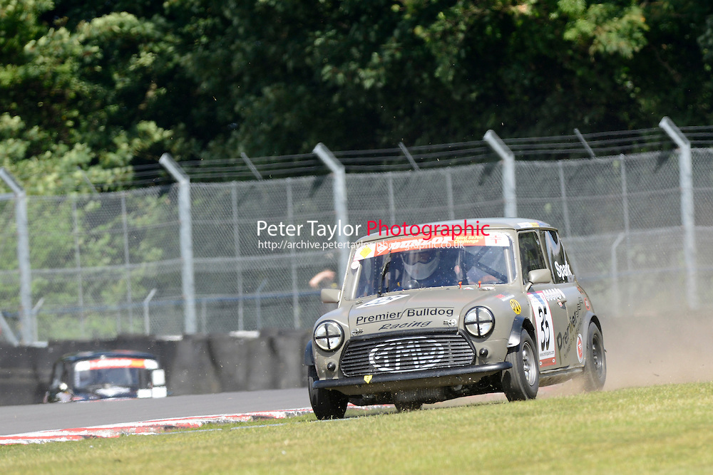 #35 Paul Spark Mini 7 during Mini Se7en - Race 1  as part of the Mini Festival  at Oulton Park, Little Budworth, Cheshire, United Kingdom. August 08 2015. World Copyright Taylor/PSP. Copy of publication required for printed pictures.  Every used picture is fee-liable. http://archive.petertaylor-photographic.co.uk
