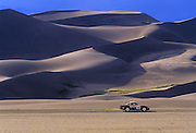 Image of a 1985 Porsche Safari 959 automobile at the Great Sand Dunes National Park and Preserve, Colorado, American Southwest