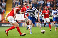 Pavel Pogrebnyak of Reading (C) in action during the Sky Bet Championship match at The Valley, London<br /> Picture by Andrew Tobin/Focus Images Ltd +44 7710 761829<br /> 05/04/2014