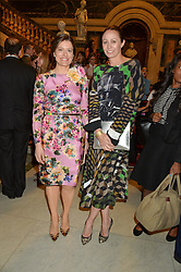 Left to right, MIRIAM CLEGG and CAROLINE RUSH at the LDNY Fashion Show and WIE Award Gala sponsored by Maserati held at The Goldsmith's Hall, Foster Lane, City of London on 27th April 2015.