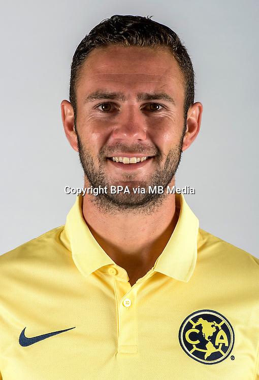 """Mexico League - BBVA Bancomer MX 2014-2015 -<br /> Aguilas - Club de Futbol America / Mexico - <br /> Miguel Arturo Layun Prado """" Miguel Layun """""""