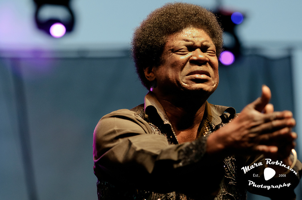 Charles Bradley with The Budos Band at the Nelsonville Music Festival 2012, concert photography by Akron music photographer Mara Robinson Photography