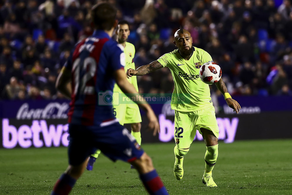 January 10, 2019 - Valencia, Spain - ALEIX VIDAL of FC Barcelona during  spanish King Cup  match between Levante UD v FC Barcelona  at Ciutat de Valencia  Stadium on January  10, 2018. (Photo by Jose Miguel Fernandez/NurPhoto) (Credit Image: © Jose Miguel Fernandez/NurPhoto via ZUMA Press)