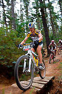 Oak Valley ( Elgin / Grabouw ), SOUTH AFRICA - Stefan Sahm rides through the single track at High Rising during stage six , 6 , of the Absa Cape Epic Mountain Bike Stage Race in Oak Valley ( Elgin / Grabouw ) on the 27 March 2009 in the Western Cape, South Africa..Photo by Karin Schermbrucker /SPORTZPICS