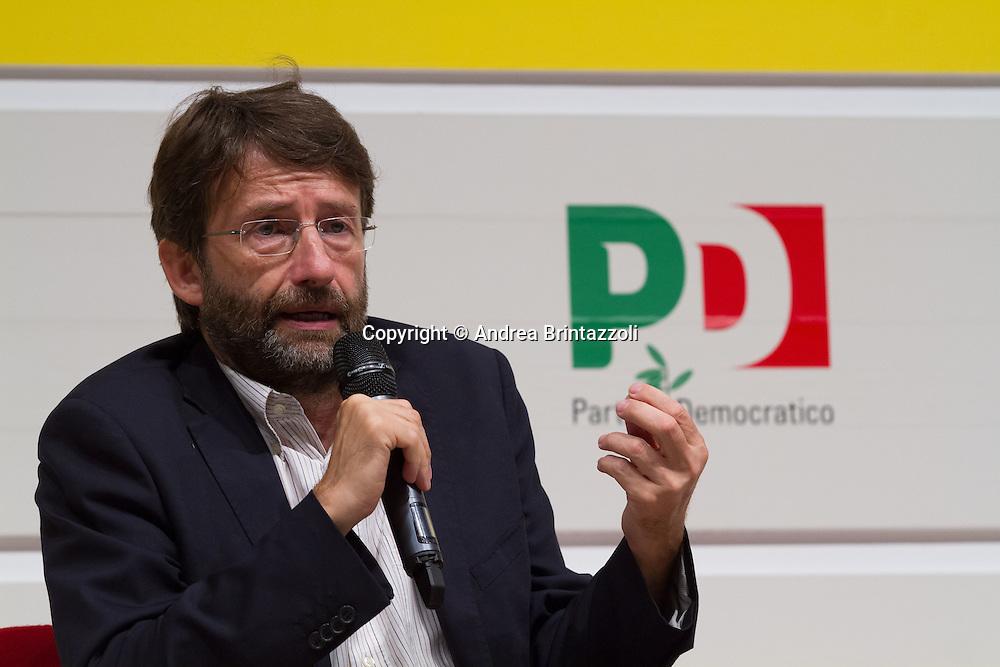 Bologna 05 Settembre 2014 - Festa de l'Unità - Dibattito: Art Bonus, la cultura fa bene all'Italia. Nella foto Dario Franceschini