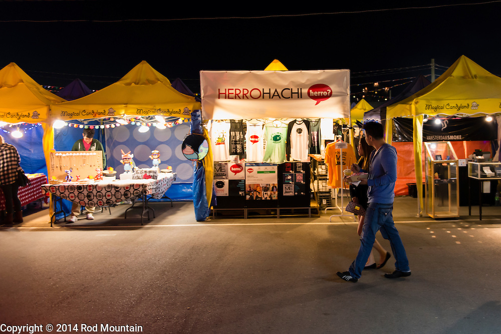 Richmond, BC, Canada - June 29, 2014 - The evening scene as captured at the Richmond Night Market. <br />
