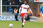 Matthew Olosunde (22)  during the EFL Sky Bet League 1 match between Peterborough United and Rotherham United at London Road, Peterborough, England on 25 January 2020.