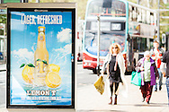 Tennents Lemon T lager promotion, Princes Street, Edinburgh for Clear Channel outdoor advertising