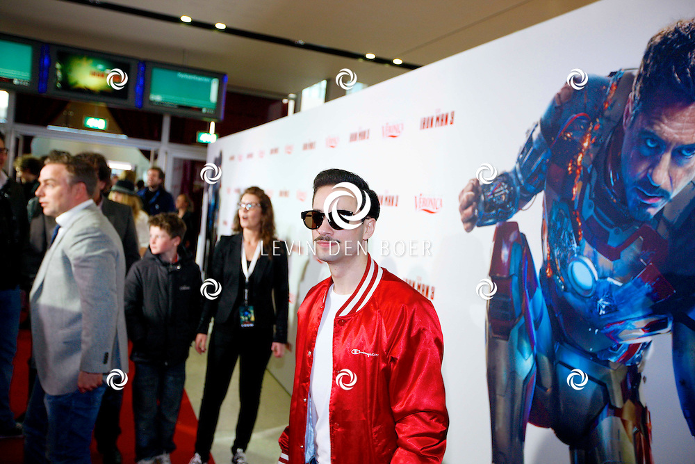AMSTERDAM - In het Rai theater is de filmpremiere van Iron Man 3. Met op de foto Valerio Zeno. FOTO LEVIN DEN BOER - PERSFOTO.NU
