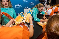 07-01-2018 NED: DELA Beach Open day 5, Den Haag<br /> Jeugd kinderen vermaken zich prima in het Dela Beach House. Marleen Ramond-van Iersel NED #2, Joy Stubbe NED #1