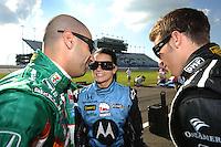 Tony Kanaan, Danica Patrick, Marco Andretti, Firestone Indy 200, Nashville Superspeedway, Nashville, TN  USA 7/12/08