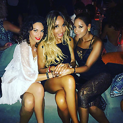"""Sharlely Becker releases a photo on Instagram with the following caption: """"#izakaya #ibiza @cathyguetta @winonahdejong only the cool girls can sit with us \u2665\ufe0f\u2665\ufe0f\u2665\ufe0f\u2665\ufe0f"""". Photo Credit: Instagram *** No USA Distribution *** For Editorial Use Only *** Not to be Published in Books or Photo Books ***  Please note: Fees charged by the agency are for the agency's services only, and do not, nor are they intended to, convey to the user any ownership of Copyright or License in the material. The agency does not claim any ownership including but not limited to Copyright or License in the attached material. By publishing this material you expressly agree to indemnify and to hold the agency and its directors, shareholders and employees harmless from any loss, claims, damages, demands, expenses (including legal fees), or any causes of action or allegation against the agency arising out of or connected in any way with publication of the material."""