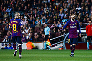 10 Leo Messi from Argentina of FC Barcelona and 08 Andres Iniesta from Spain of FC Barcelona during the Spanish championship La Liga football match between FC Barcelona and Real Sociedad on May 20, 2018 at Camp Nou stadium in Barcelona, Spain - Photo Xavier Bonilla / Spain ProSportsImages / DPPI / ProSportsImages / DPPI