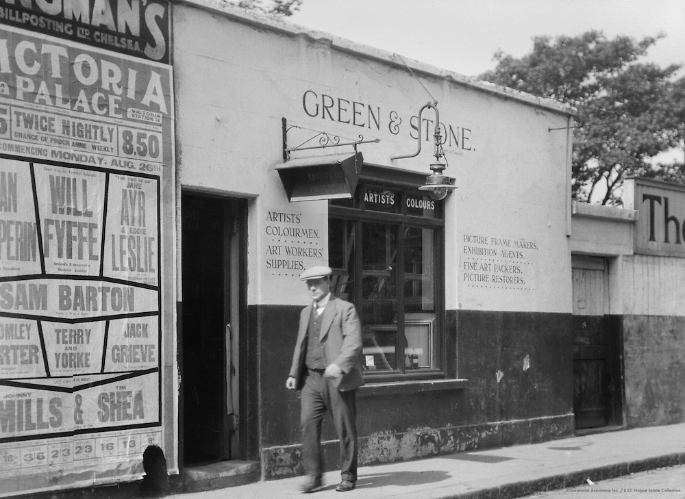 Outside Green and Stone Artistry's Store, Chelsea, London, 1928