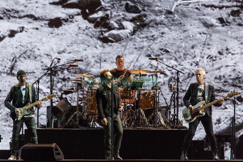 June 4, 2017 - Chicago, Illinois, U.S - THE EDGE, BONO, LARRY MULLEN JR. and ADAM CLAYTON of U2 during 30th Anniversary of the The Joshua Tree Tour at Soldier Field in Chicago, Illinois (Credit Image: © Daniel DeSlover via ZUMA Wire)