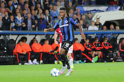 Abdoulay Diaby of Club Brugge attacks the goal during the Champions League Qualifying Play-Off Round match between Club Brugge and Manchester United at the Jan Breydel Stadion, Brugge, Belguim on 26 August 2015. Photo by Phil Duncan.