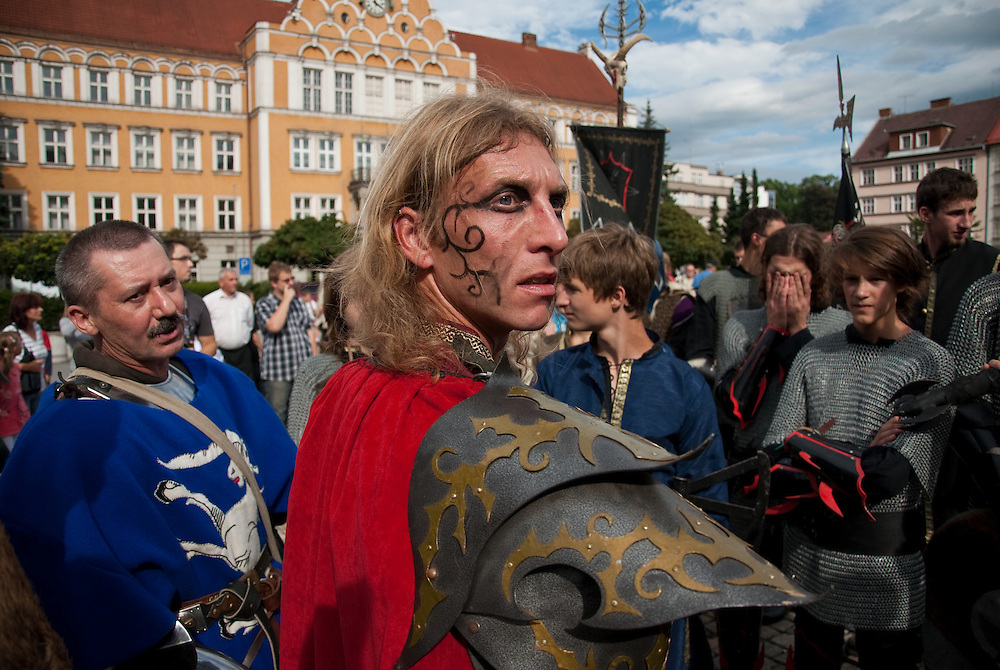 The opening parade of Tricon 2010. <br /> Tricon is Europe's biggest science fiction and fantasy convention. Previously known as Eurocon, the convention has been held in<br /> many countries. Eurocon 2010 is a joint venture of science fiction and fantasy fans from three countries Poland, the Czech Republic and Slovakia.