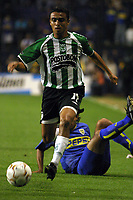 Fotball<br />22/10/03 - BOCA JUNIORS FROM ARGENTINA (0) VS. ATLETICO NACIONAL FROM COLOMBIA (1) - SOUTH AMERICAN CUP - Buenos Aires - Argentina.<br />RICOURTE (Atletico Nacional)<br />Foto: Digitalsport
