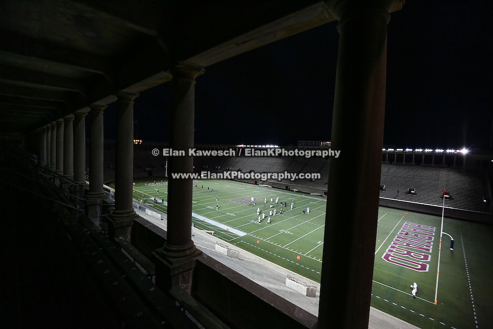 A general view of the field prior to the first ever Boston Brawlers home game at Harvard Stadium on October 24, 2014 in Boston, Massachusetts. (Photo by Elan Kawesch)