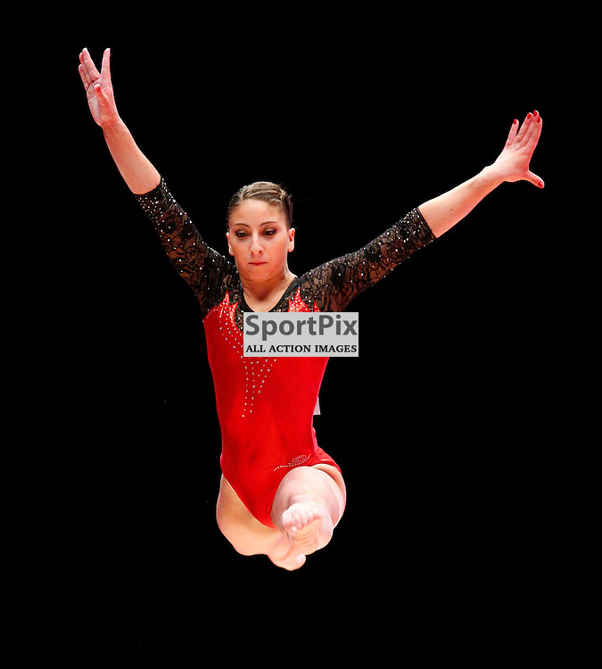 2015 Artistic Gymnastics World Championships being held in Glasgow from 23rd October to 1st November 2015...Maria Stoffel (Argentina) competing in the Balance Beam competition...(c) STEPHEN LAWSON | SportPix.org.uk