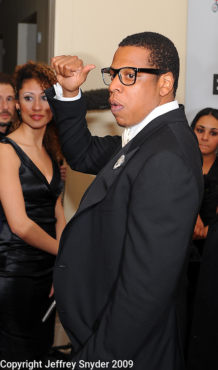 Jay-Z at the BET Inaugural Gala, held at the Mandarin Oriental Hotel in Washington, DC