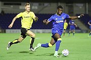 AFC Wimbledon Jayden Antwi (29) dribbling and on his way to score during the Pre-Season Friendly match between AFC Wimbledon and Burton Albion at the Cherry Red Records Stadium, Kingston, England on 21 July 2017. Photo by Matthew Redman.