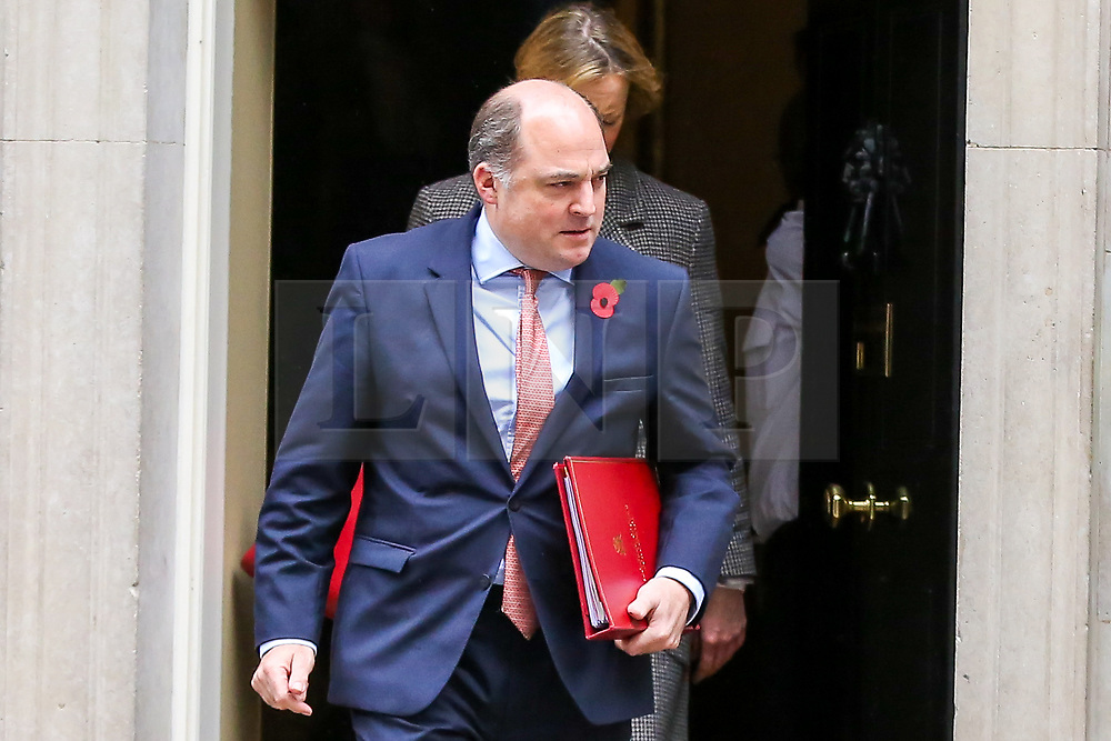 © Licensed to London News Pictures. 29/10/2019. London, UK. Secretary of State for Defence BEN WALLACE departs from No 10 Downing Street after attending the weekly cabinet meeting. Photo credit: Dinendra Haria/LNP