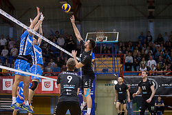 Zan Novljan of Calcit Volley during 3rd Leg volleyball match between OK Calcit Volley and Salonit Anhovo in Semifinal of 1. DOL Slovenian National Championship 2017/18, on April 15, 2018 in Sports hall Kamnik, Kamnik, Slovenia. Photo by Urban Urbanc / Sportida