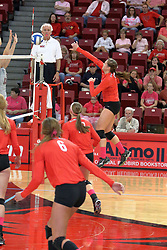 12 October 2013:  Ashley Rosch during an NCAA womens volleyball match between the Missouri State Bears and the Illinois State Redbirds at Redbird Arena in Normal IL