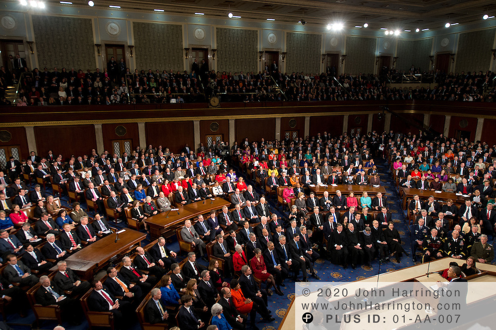 U.S. President Barack Obama delivers his State of the Union address to a Joint Session of Congress, Tuesday January 28, 2014 on Capitol Hill in Washington DC.