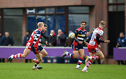 Mat Protheroe of Bristol United passes to Jack Wallace of Bristol United - Mandatory by-line: Paul Knight/JMP - 18/11/2017 - RUGBY - Clifton RFC - Bristol, England - Bristol United v Gloucester United - Aviva A League