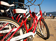Bikes and beach, Payette Lake, McCall, Idaho