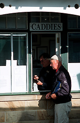 UK SCOTLAND ST ANDREWS 1-2JUN04 -  An Old Course caddy chats to an R & A administrator at the Old Course. The Royal and Ancient Golf Club of St. Andrews, Fife, Scotland is celebrating its 250th anniversary this year and is the governing authority for the rules of the game in more than 100 affiliated nations and is responsible for the Open Championship and key amateur and international events. The R & A is also dedicated to the development of golf world-wide and is a leader in environmental and ecological research.......jre/Photo by Jiri Rezac....© Jiri Rezac 2004....Contact: +44 (0) 7050 110 417..Mobile:  +44 (0) 7801 337 683..Office:  +44 (0) 20 8968 9635....Email:   jiri@jirirezac.com..Web:     www.jirirezac.com....© All images Jiri Rezac 2004 - All rights reserved...