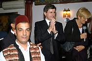 Roma 5 Ottobre 2008.La comunita del Mondo Arabo in Italia.Co-mai  offre un rinfresco di cucina araba in occasione di Eid Ramadan che coincide con la fine del mese sacro di Ramadan. Gianni Alemanno Sindaco di Roma.Rome, October 5, 2008.The community of the Arab world in Italy.Co-ever offers refreshments of Arab cuisine during Eid Ramadan which coincides with the end of the month of holy Ramadan