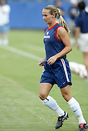 3 July 2004: Heather Mitts before the game. The United States beat Canada 1-0 at the The Coliseum in Nashville, TN in an womens international friendly soccer game..