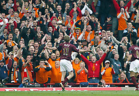 Photo: Chris Ratcliffe.<br />Arsenal v West Bromwich Albion. The Barclays Premiership. 15/04/2006.<br />Alexander Hleb celebrates scoring the opening goal for Arsenal