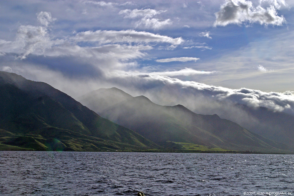 West Maui Mountains, view from Lahania Harbor