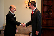 The Norwegian Prime Minister Jens Stoltenberg meets the Chairman of the Federal Reserve Board, Mr. Ben Bernanke.