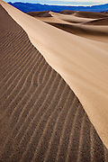 Sand dunes design and patterns in Death Valley National Park, California